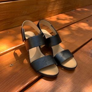 Franco Sarto | LIKE NEW Wedge Sandals | Black 7.5